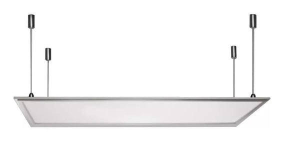 Panel Led 60x120 Cm 72w Luz Blanca Fria Con Kit De Tensores