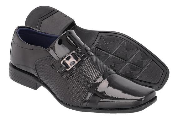 Sapato Social Masculino Em Verniz Ref :873