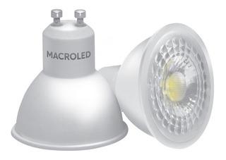 Pack X10 Lámpara Dicroica Led 7w Gu10 220v Fría Dia Macroled