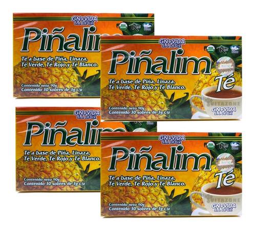Imagen 1 de 5 de Piñalim 30 Sobres Gn+v (4 Cajas)