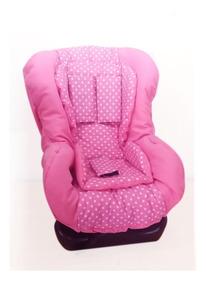 Capa Para Cadeira Carro Multimarcas Acolchoada Rosa Poá