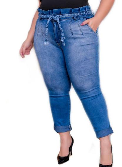 Calça Jeans Feminina Plus Size Gordinha Moderna No Estilo 15