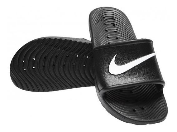 Ojotas Nike Kawa Shower Negro Talles Grandes 832528001