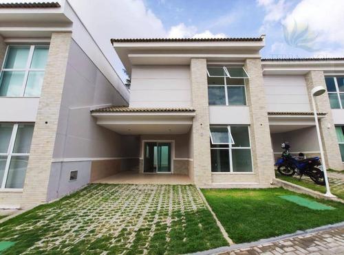 Imagem 1 de 30 de Casa Duplex Com 3 Suítes Em Condomínio Fechado No Eusébio. - Ca0560