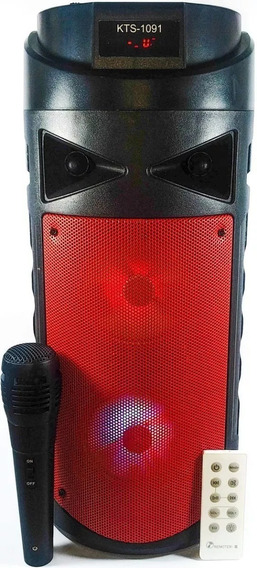 Caixa De Som Bluetooth Amplificada Torre Microfone Controle