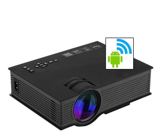 Mini Projetor Led Portátil Wifi 1800lumens Datashow Hdmi Vga