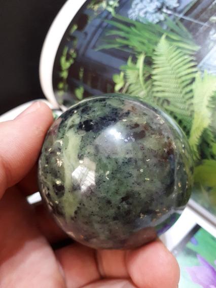 Esfera Bola De Jade Nefrita Pedra Natural Promoção 282g