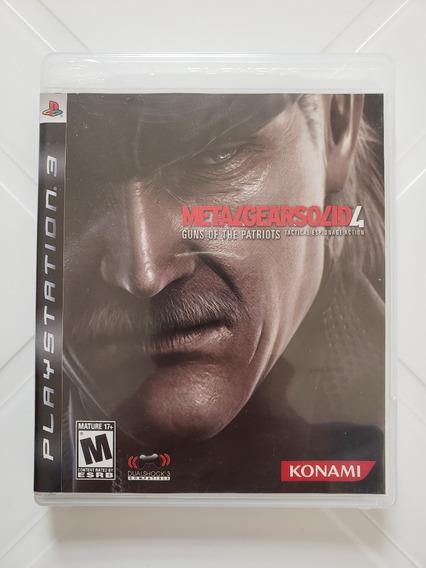 Jogo Metal Gear Solid 4 - Ps3 - Mídia Física