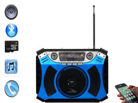 Rádio Portátil Bluethoot/am/fm/usb 8w Rms D-f 6-grasep