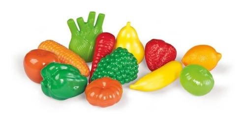 Kit De Frutas Y Verduras De Juguete Infantil Calesita 209 Ed