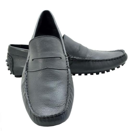Sapato Masculino Mocassim Tenis Em Couro Liquidação