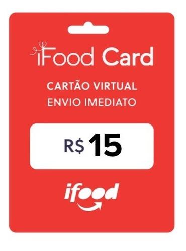 Imagem 1 de 3 de Gift Card Virtual Ifood - Pague R$10 E Ganhe R$15