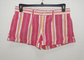 Pink /victoria´s Secret Short Rayado Talla 6