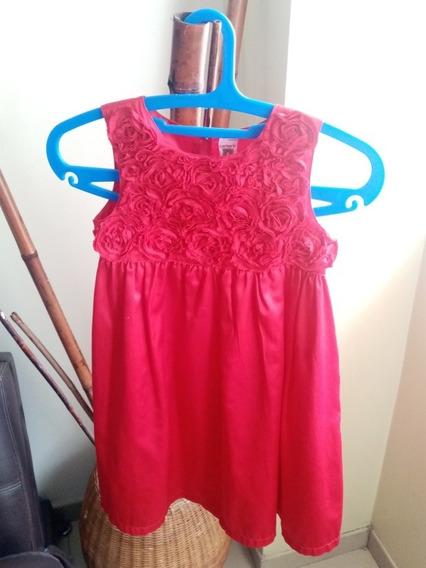Vestido De Niña Rojo Carters Talla 6 Largo 70cm