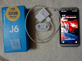Celular Samsung Galaxy J6 32 Gb + Forro + Vidrio Templado