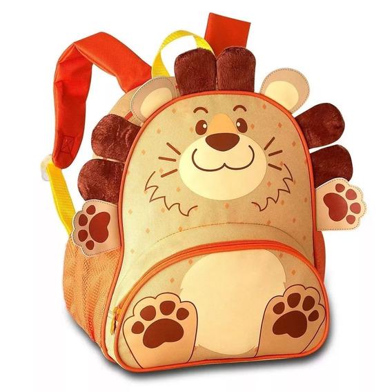 Mochila Infantil Bichinho Leão Costas Animais Clio Pets