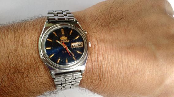 Relógio Orient Automático Azul Marinho Ótima Conservação