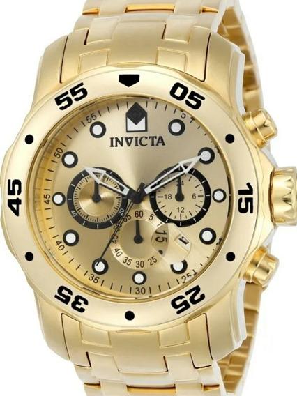 Relógio Invicta Pro Diver 0074 Ouro 18k 2019