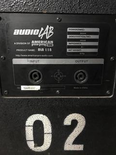 Sub Audiolab 18 Pasivo Ala118