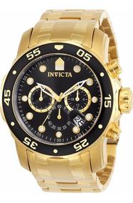 Relógio Invicta Pro Diver 0072 Plaque Ouro Original