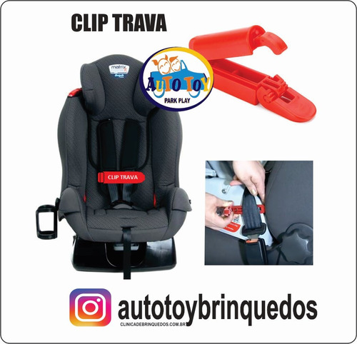 Imagem 1 de 7 de Clip Para Cintos De Cadeiras De Bebê