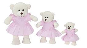 Trio De Urso Menina Para Nicho E Decoração De Quarto