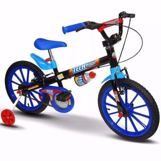 Bicicleta Infantil Masculina Aro 16 Tech Boys Criança Nathor