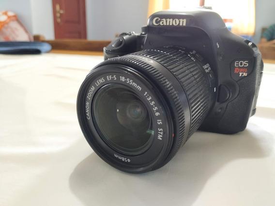 Câmera Canon T3i (com Defeito) + Carregador + Bateria