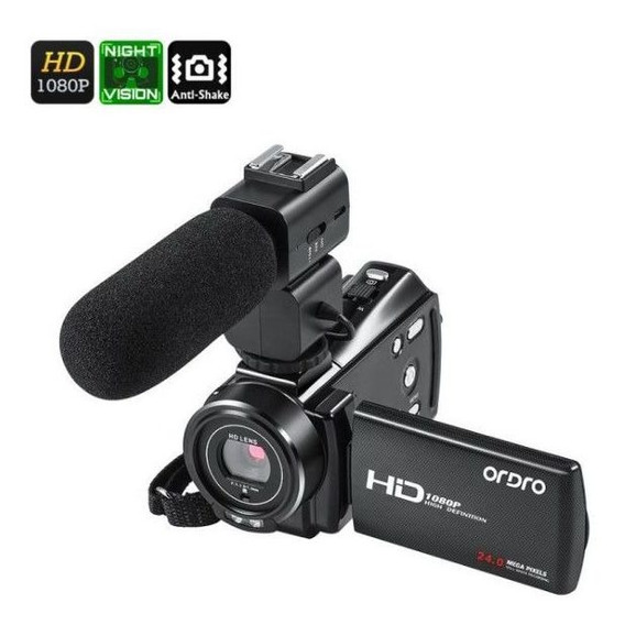 Filmadora Ordro Hdv-v7 Plus V. Noturna Com Microfone Externo