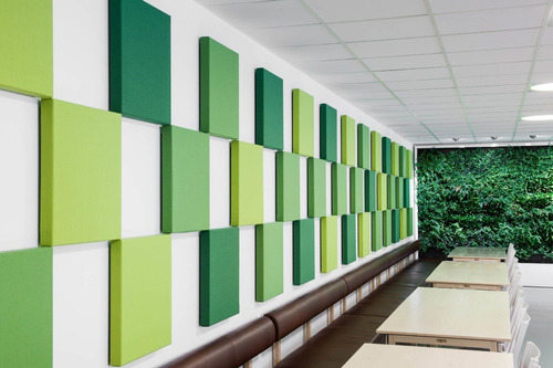 Imagen 1 de 7 de Paneles Acústicos Decorativos Color 50x50cm Calidad Musycom