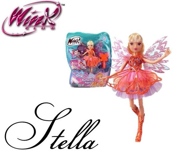 Boneca Winx Club Butterflix Fairy- Stella 30 Cm-wxbf001