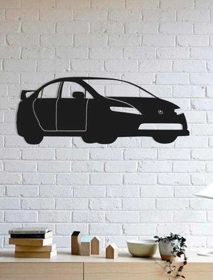 Quadro Decorativo Parede Veículos Honda Civic 02 90cm