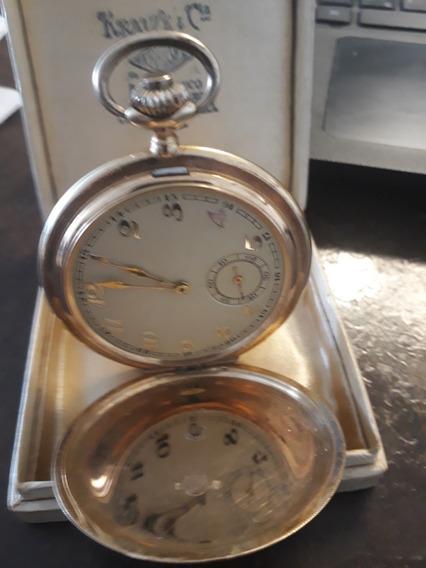 Relógio De Bolso Em Ouro 14k Antigo
