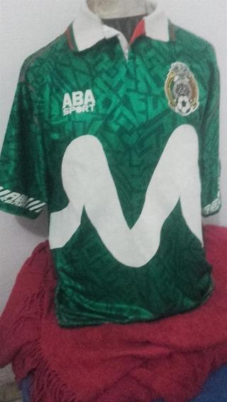Camiseta Aba Sport Seleccion Mexico #6 1995