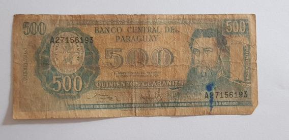 Billete De 500 Guaraníes Serie A - Paraguay (1944-1997)