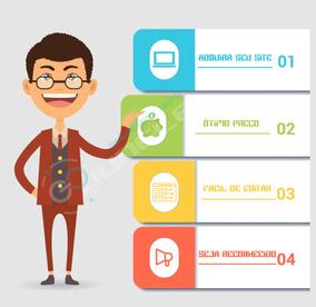 Criação De Site Institucional Ou Empresa +hospedagem+logo