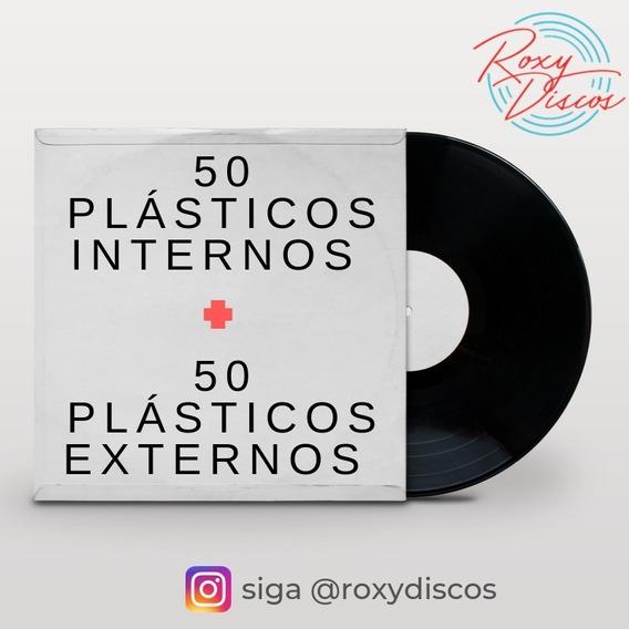 50 Plásticos Internos + 50 Plásticos Externos Para Lp