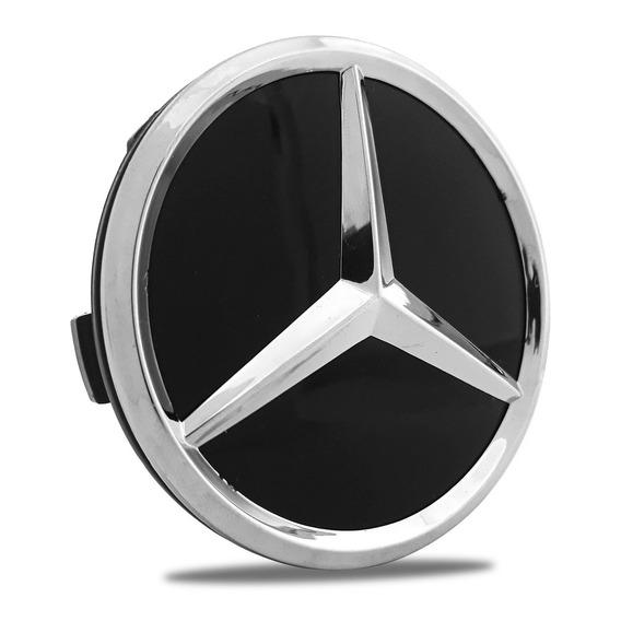 Calota Calotinha Miolo Centro Roda Mercedes Benz 75mm Preto