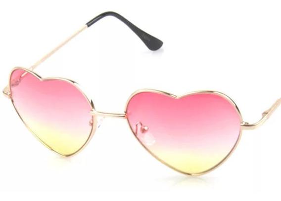 Lentes Corazón Colores Lolita Lentes Gafas