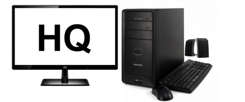 Monitor Hq + Cpu Positivo Core I5 4gb Hd 500gb - Promoção
