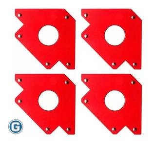 4 Escuadras Soporte Magnético 5 34 Kg Soldar Dogo Gramabi F