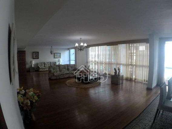 Apartamento Com 4 Dormitórios À Venda, 417 M² Por R$ 2.500.000 - Ingá - Niterói/rj - Ap2450