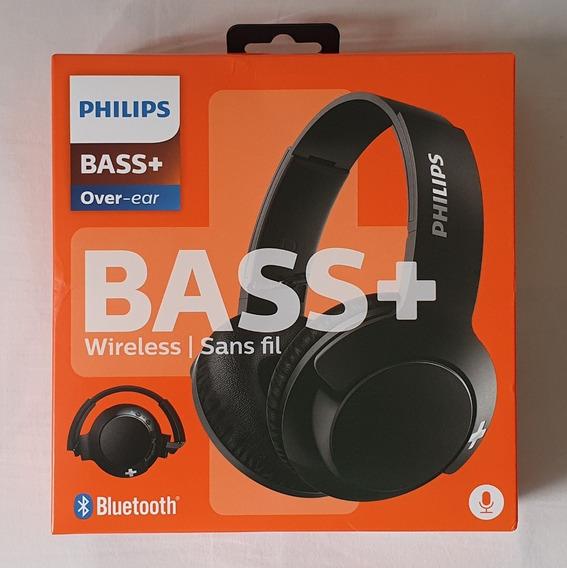 Fone Bluetooth C/ Mic Philips Bass+ Shb3175bk Preto Usado!