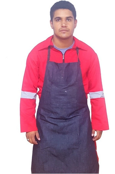 Mandil - Pechera Mezclilla Trabajo Rudo 1 Bolsa