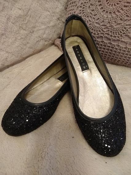 Zapatos Ballerinas Glitter Negro