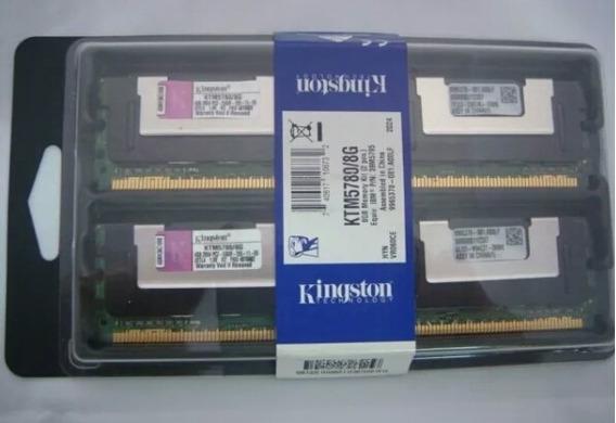 Memória Kingston 8gb Ddr2 667 Pc2-5300f Ktm5780/8g Ibm