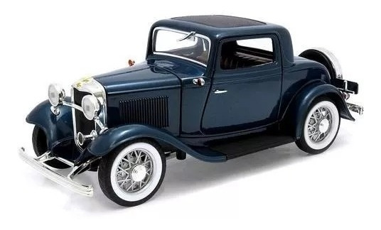 1932 Ford 3 Window Couper Azul Yat Ming Escala 1/18