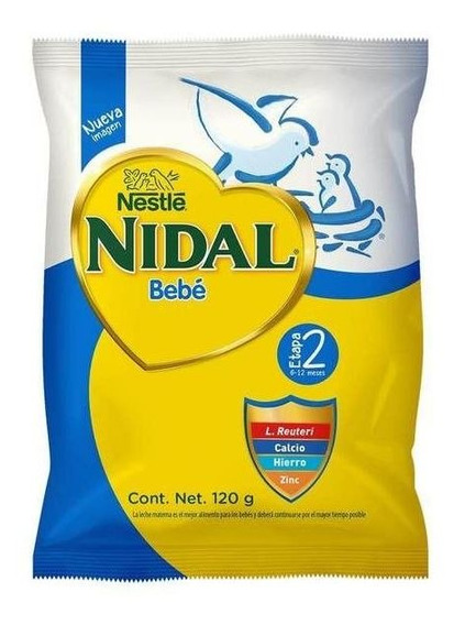 Nidal 2 Formula Infantil Bolsa De 120 Gr