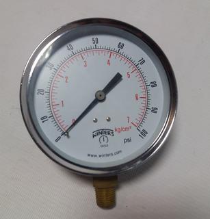 Manometro 0- 100 P S I 4 X 1/4 N P T