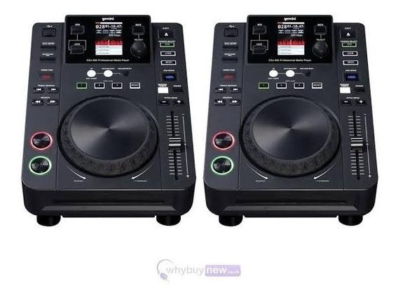 Kit Par De Cdj Gemini 650 + Mixer Itrax + Case